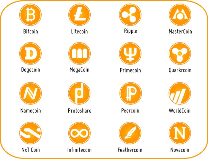 Cryptocurrencies Altcoins other Cryptos